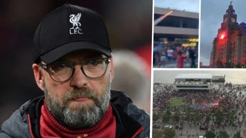 liverpool jurgen klopp fan celebrations