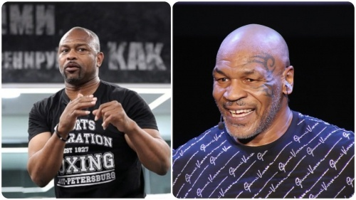 Roy Jones Jr and Mike Tyson