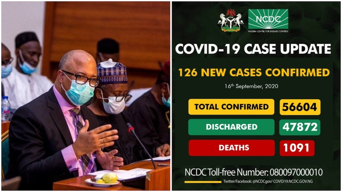 NCDC announces 126 new Covid-19 cases, total now 56,604
